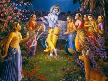 Gopis visit Krishna at night