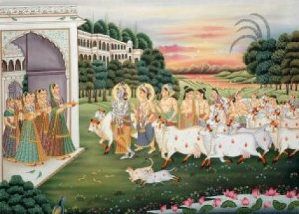 gopis_welcome_krishna_balarama_and_their_companion_wk53