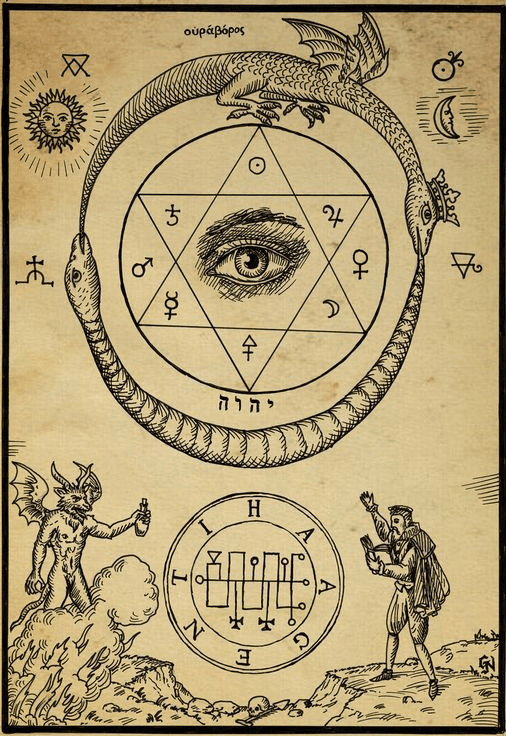 ouroboros_snake_eating_tail_omnia_vnvs_acircles_alchemy_ancient