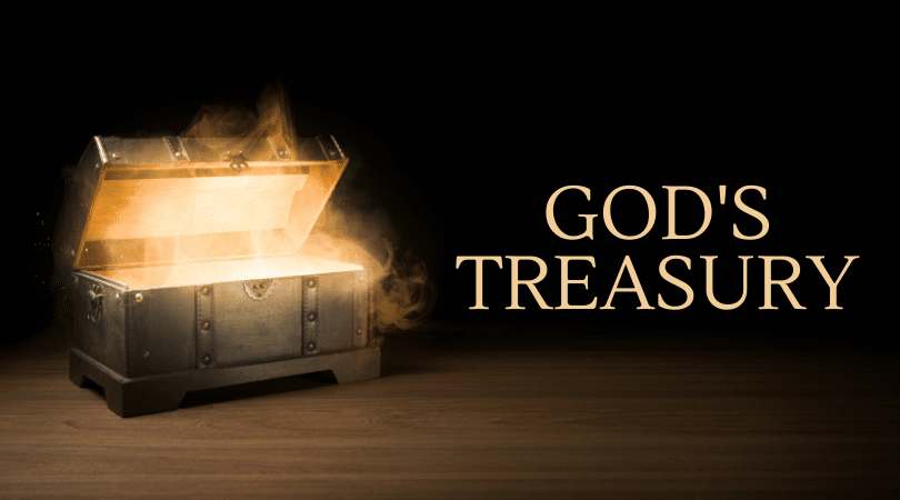 A treasure chest representing God's treasury