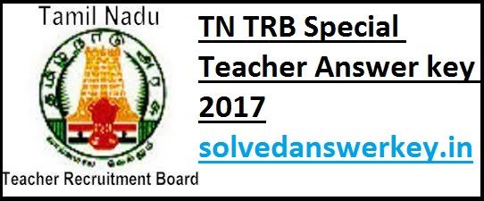 TN TRB Special Teacher Answer key 2017 PDF