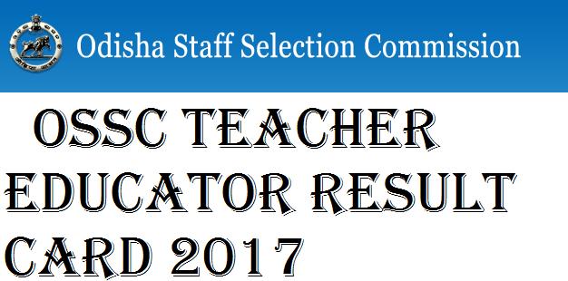 OSSC Teacher Educator Result Card