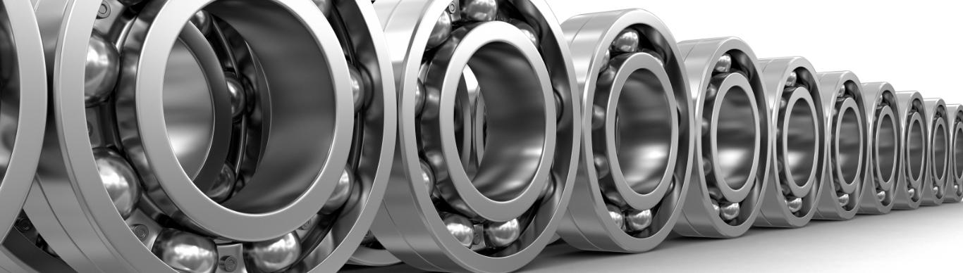 Row of bearings