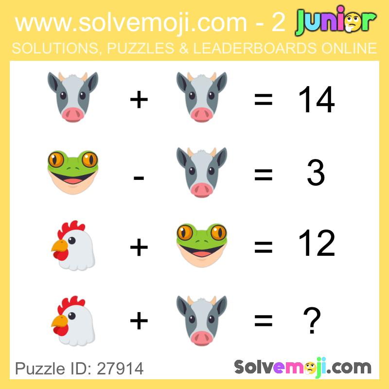 solvemoji emoji math puzzles