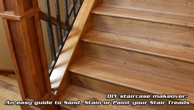 How To Sand Stairs Treads Stain Paint Diy Staircase Makeover   Sanding And Staining Stairs   Pine   Stair Railing   Wood Stairs   Stair Case   Stair Risers