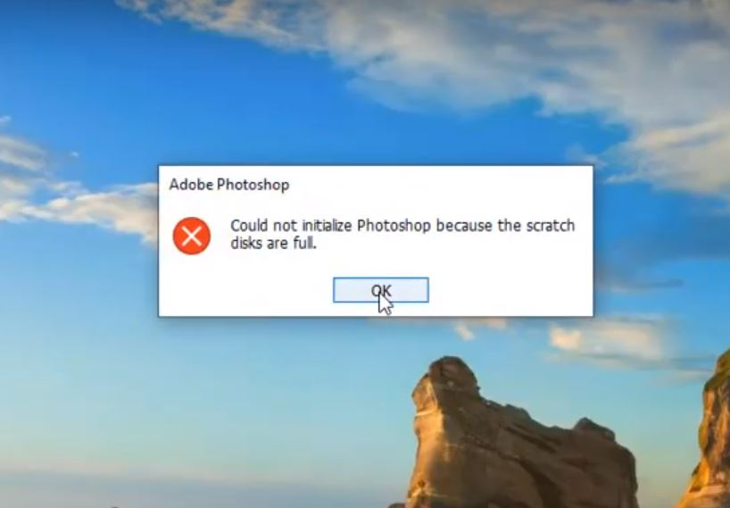Scratch Disks Are Full Photoshop Error
