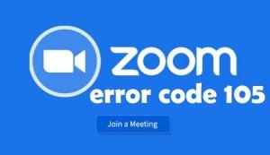 Zoom Error Code 105