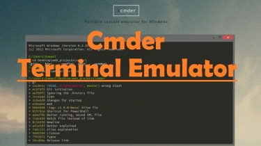 Cmder Terminal Emulator for Windows PC