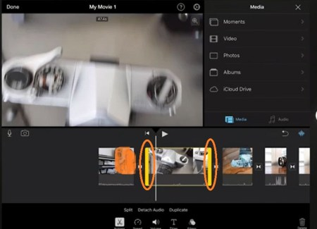 Cut Video Clip on iMovie