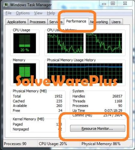 Windows Resource Monitor