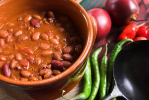 Delicious chili with beans which can cause gas
