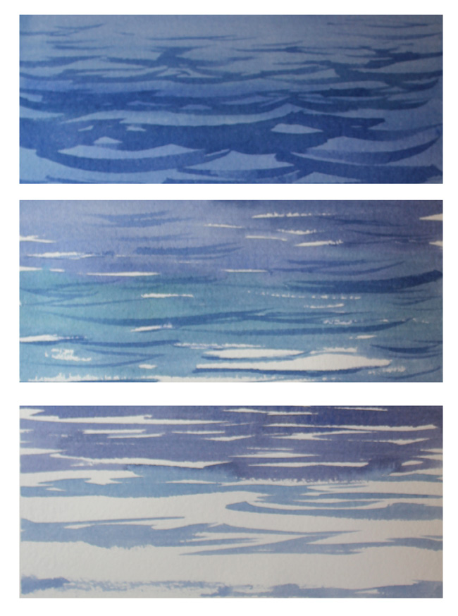 How To Paint Water Ripples : paint, water, ripples, Paint, Water, Watercolour,, Still|Waves|Ripples|, Reflections, Solving, Watercolour