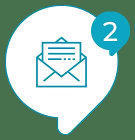 Solvis - Ícone - Como Funciona? - 002 - Ao final do e-mail seu cliente recebe a pesquisa e registra a opinião sobre o atendimento;