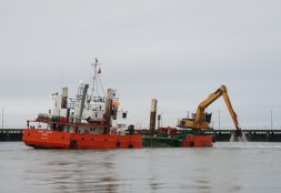 Dredger 'Grete' at Port of Workington (my thanks to Danny Ferris for this photo)