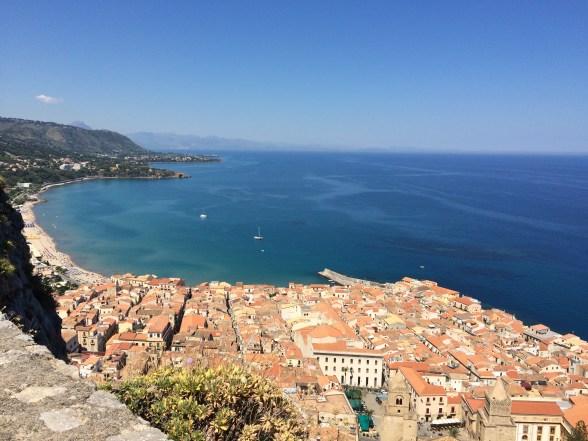 Ancient city and beautiful sea