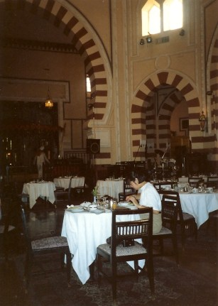 The dining room at The Old Cataract Hotel