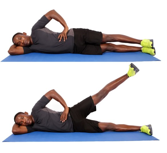 side lying hip extensions