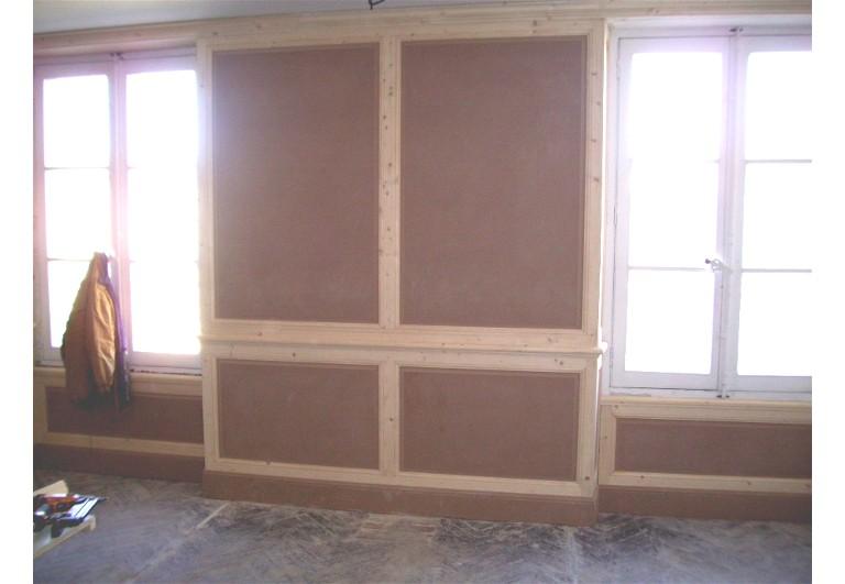 Habillage intrieur de murs en bois
