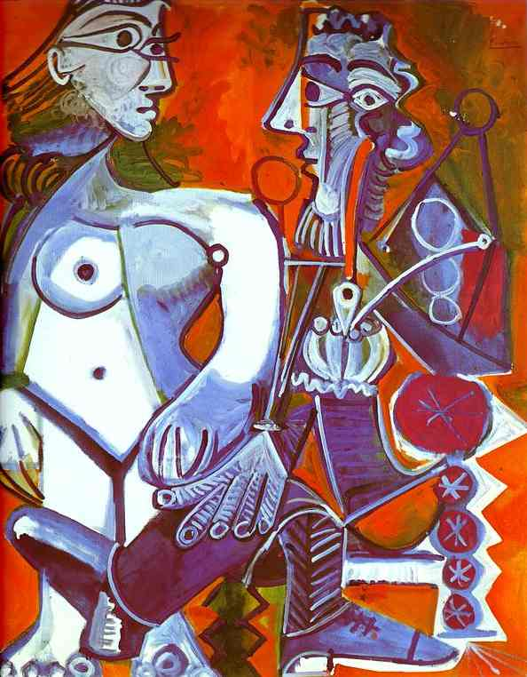 Pablo Picasso - Female Nude and Smoker