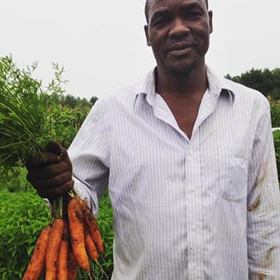 Hassan Barjan, Farm Manager at the Somali Bantu Community Association
