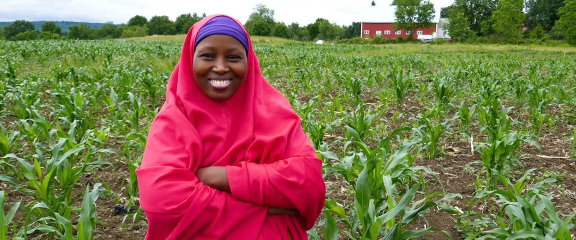 Somali Bantu woman in the field