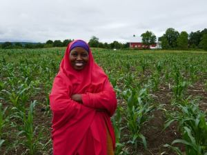 Portrait of a Somali Bantu woman at