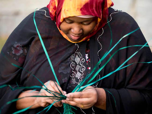 Somali Bantu Basket Weaving