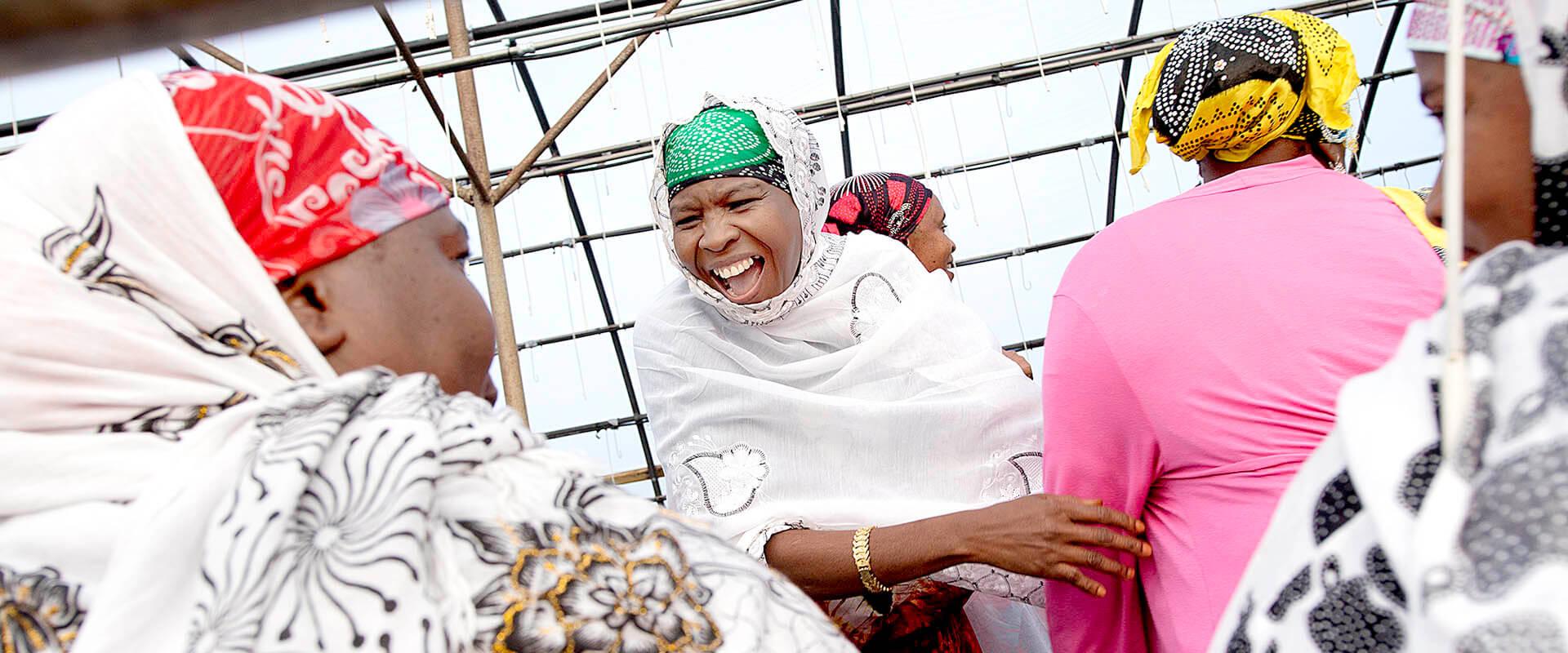 Somali Women laughing at Harvest Festival
