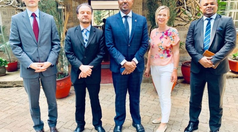 Austrian embassy officials and Somaliland Ambassador to Kenya meeting