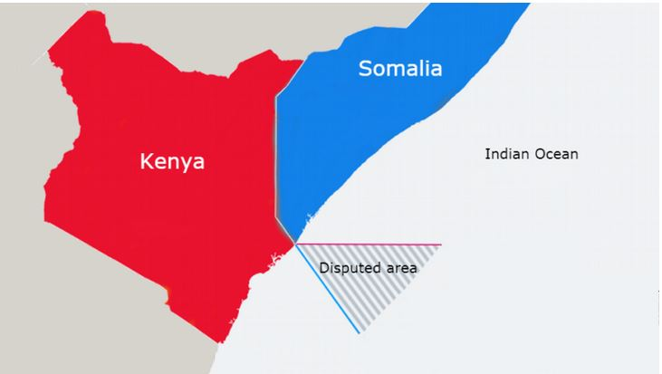 Somalia-Kenya maritime dispute map