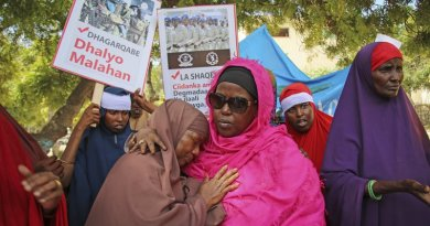Somali women protest
