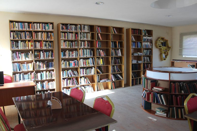The library at the Hargeisa Cultural Center