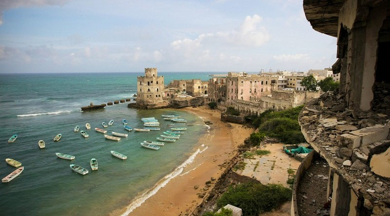 A view of the Mogadishu fishing harbour in Somalia