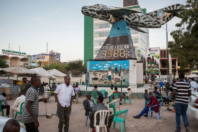 The Hargeisa War Memorial in Somaliland's capital, Hargeisa, commemorates the region's attempt in the 1980s to break away entirely from Somalia. (Mustafa Saeed for The Washington Post)