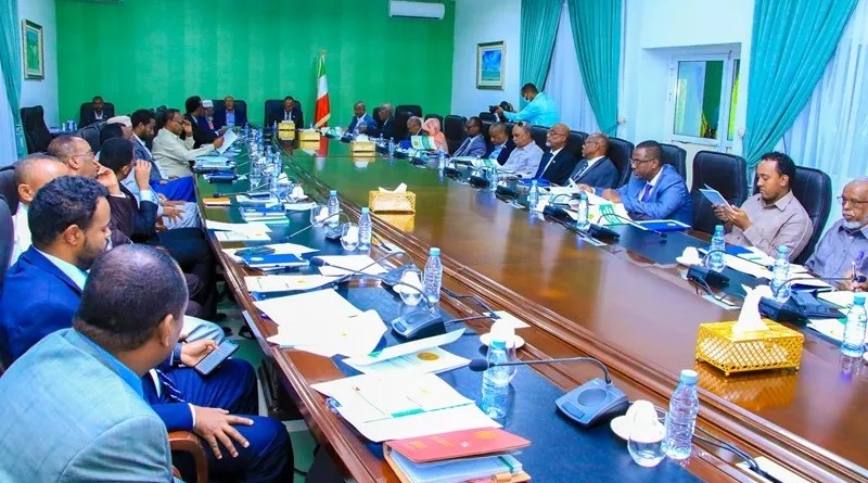 Somaliland cabinet of ministers meeting