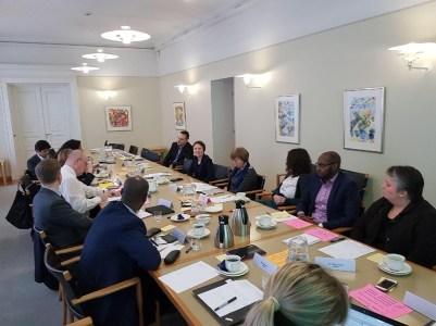 Keskustelutilaisuus TEM:ssä 2018.