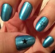 nails of week metallic blue