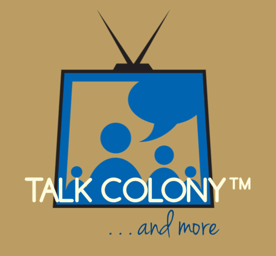 Talk Colony Podcast logo, property of Tracey Phillipps