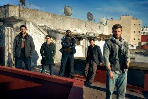 "THE BRAVE -- Season: Pilot -- Pictured: (l-r) Hadi Tabbal as Agent Amir Al-Raisani, Natacha Karam as Sergeant Jasmine ""Jaz"" Khan, Demetrius Grosse as CPO Ezekiel ""Preach"" Carter, Noah Mills as Sergeant Joseph ""McG"" McGuire, Mike Vogel as Captain Adam Dalton -- (Photo by: Jeff Riedel/NBC)"