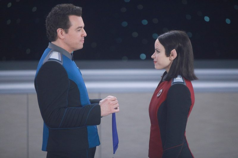 The Orville 102 - Command Performance - Ed (Seth MacFarlane) and Alara (Halston Sage)