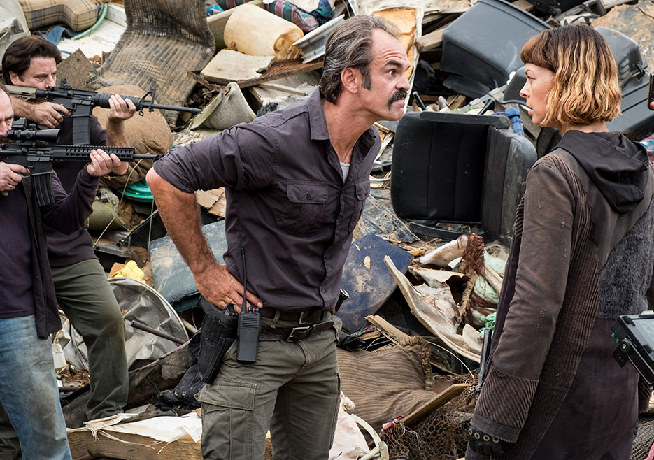 Simon (Steven Ogg) and Jadis (Pollyanna McIntosh) in Episode 10 of The Walking Dead season 8 Photo by Gene Page/AMC
