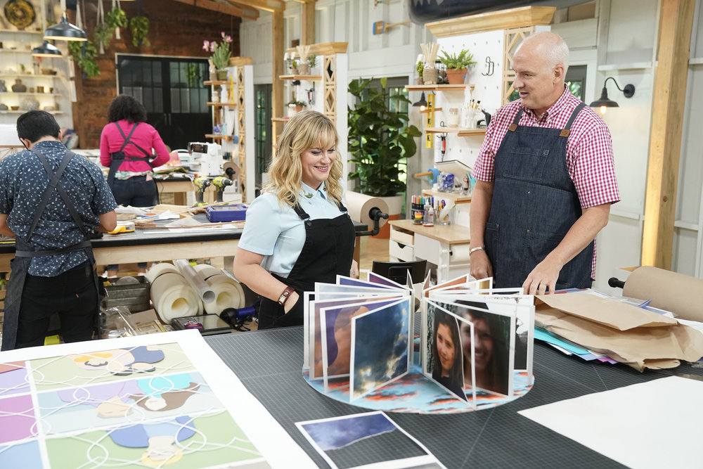 """MAKING IT -- """"You Crafty"""" Episode 101 -- Pictured: (l-r) Amy Poehler, Jeff -- (Photo by: Paul Drinkwater/NBC)"""
