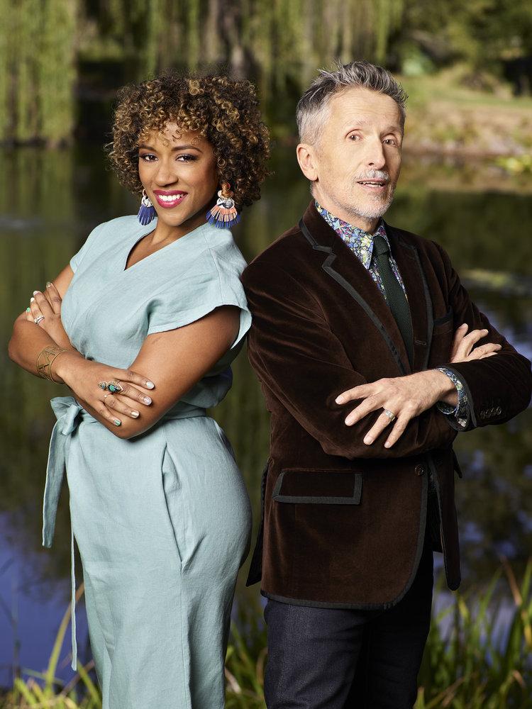 MAKING IT -- Season: 1 -- Pictured: (l-r) Dayna Johnson, Simon Doonan -- (Photo by: Chris Haston/NBC)