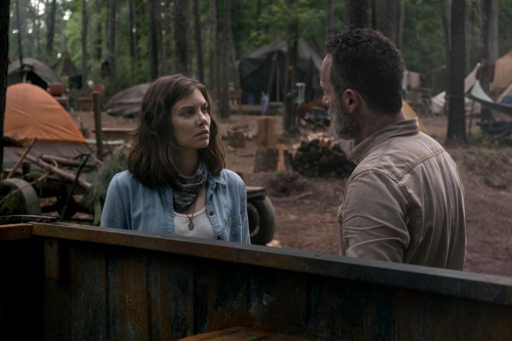 Andrew Lincoln as Rick Grimes, Lauren Cohan as Maggie Rhee - The Walking Dead _ Season 9, Episode 3 - Photo Credit: Gene Page/AMC