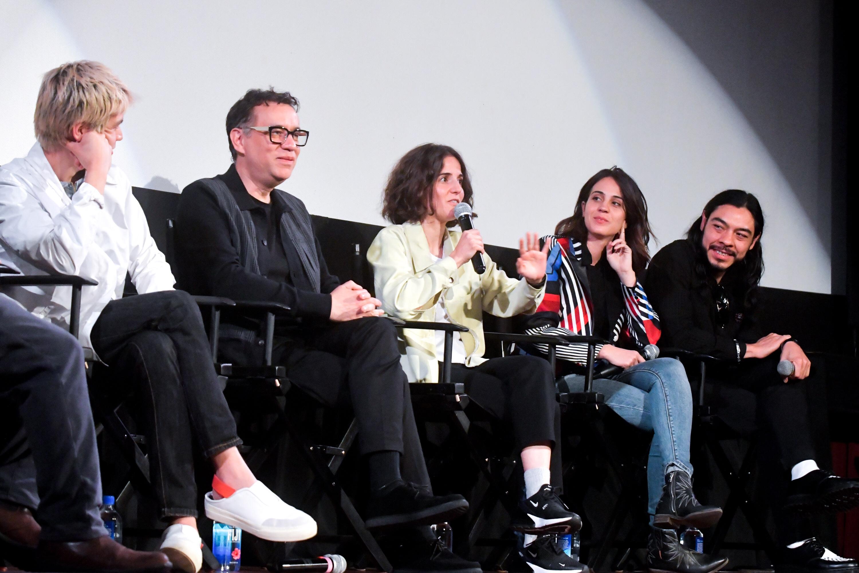 Cast and creators of Los Espookys: Julio Torres, Fred Armisen, Ana Fabrega, Cassandra Ciangherotti, and Bernardo Velasco