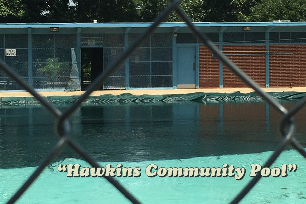 location used for the Hawkins Community Pool, visited on Atlanta Upside Down Tour with Atlanta Movie Tours Photo credit: Tracey Phillipps