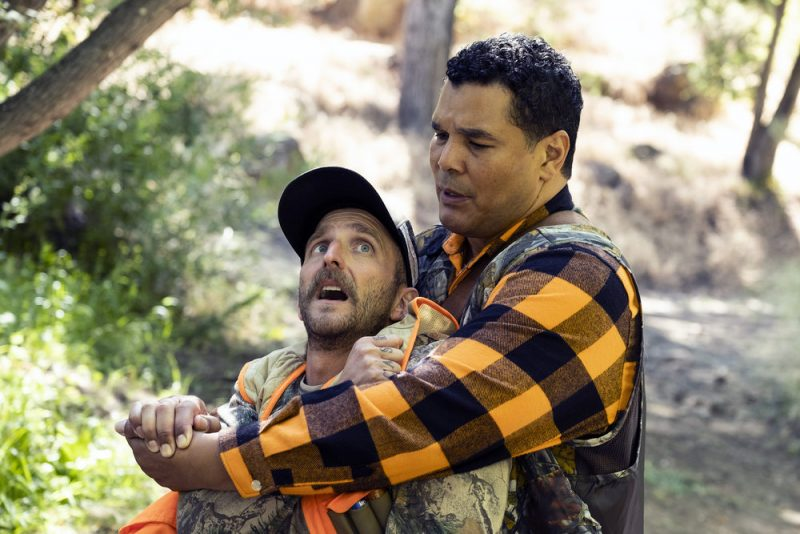 """PERFECT HARMONY -- """"Hunting Season"""" Episode 104 -- Pictured: (l-r) Will Greenberg as Wayne, Geno Segers as Dwayne -- (Photo by: Justin Lubin/NBC)"""