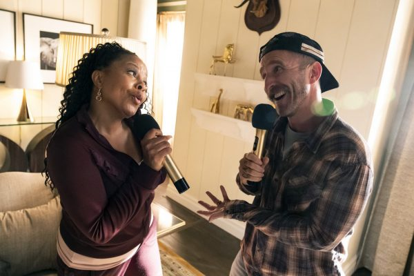 """PERFECT HARMONY -- """"Any Given Monday"""" Episode 108 -- Pictured: (l-r) Tymberlee Hill as Adams, Will Greenberg as Wayne -- (Photo by: Justin Lubin/NBC)"""