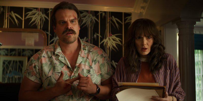 STRANGER THINGS David Harbour and Winona Ryder Photo credit: Netflix