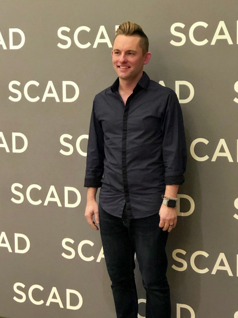 SCAD alumnus Dustin Berry at SCAD aTVfest 2020, photo credit: Tracey Phillipps/So Many Shows